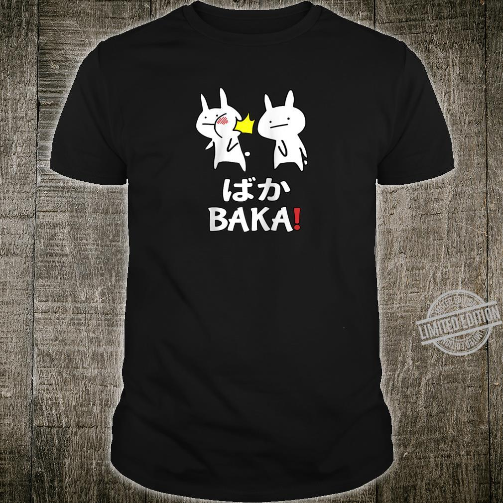 Funny Anime Japanese Baka Rabbit Slap Baka Cute Japanese Shirt