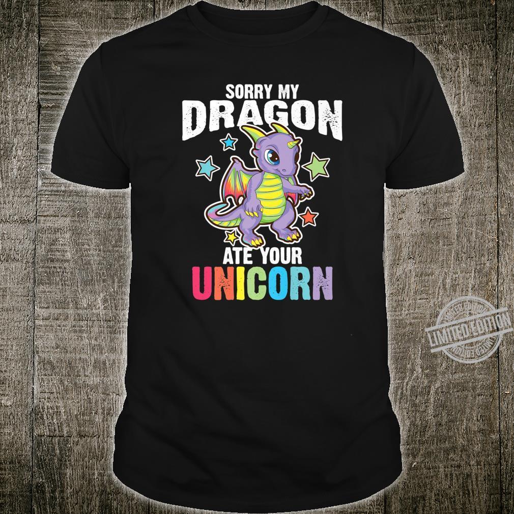 Funny Dragon Cool Dragon Ate Unicorn Shirt