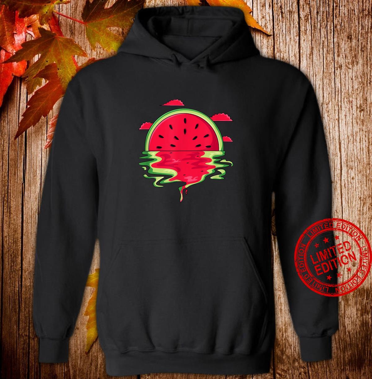 Funny Watermelon Vaporwave Sunset Summer Tropical Shirt hoodie