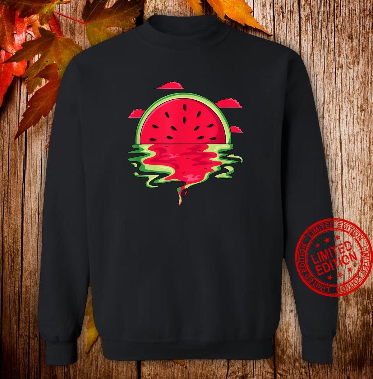 Funny Watermelon Vaporwave Sunset Summer Tropical Shirt sweater