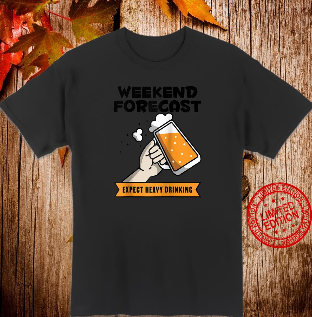 Funny Weekend Forecast Camping Beers Shirt
