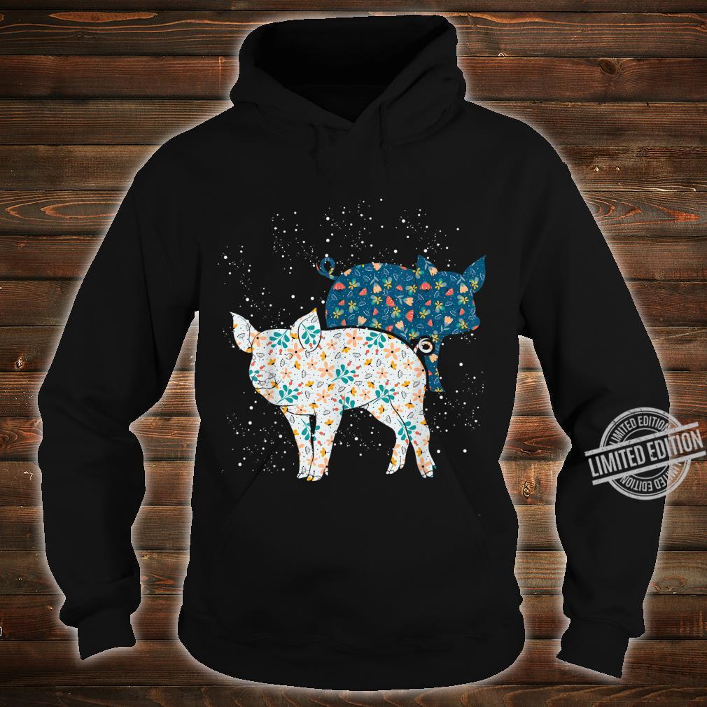 Geschenk Bäuerin Bauernhof Tiermotiv Vintage Schwein Shirt hoodie