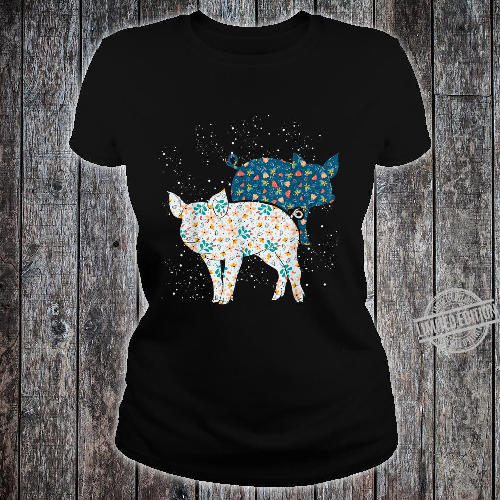Geschenk Bäuerin Bauernhof Tiermotiv Vintage Schwein Shirt ladies tee