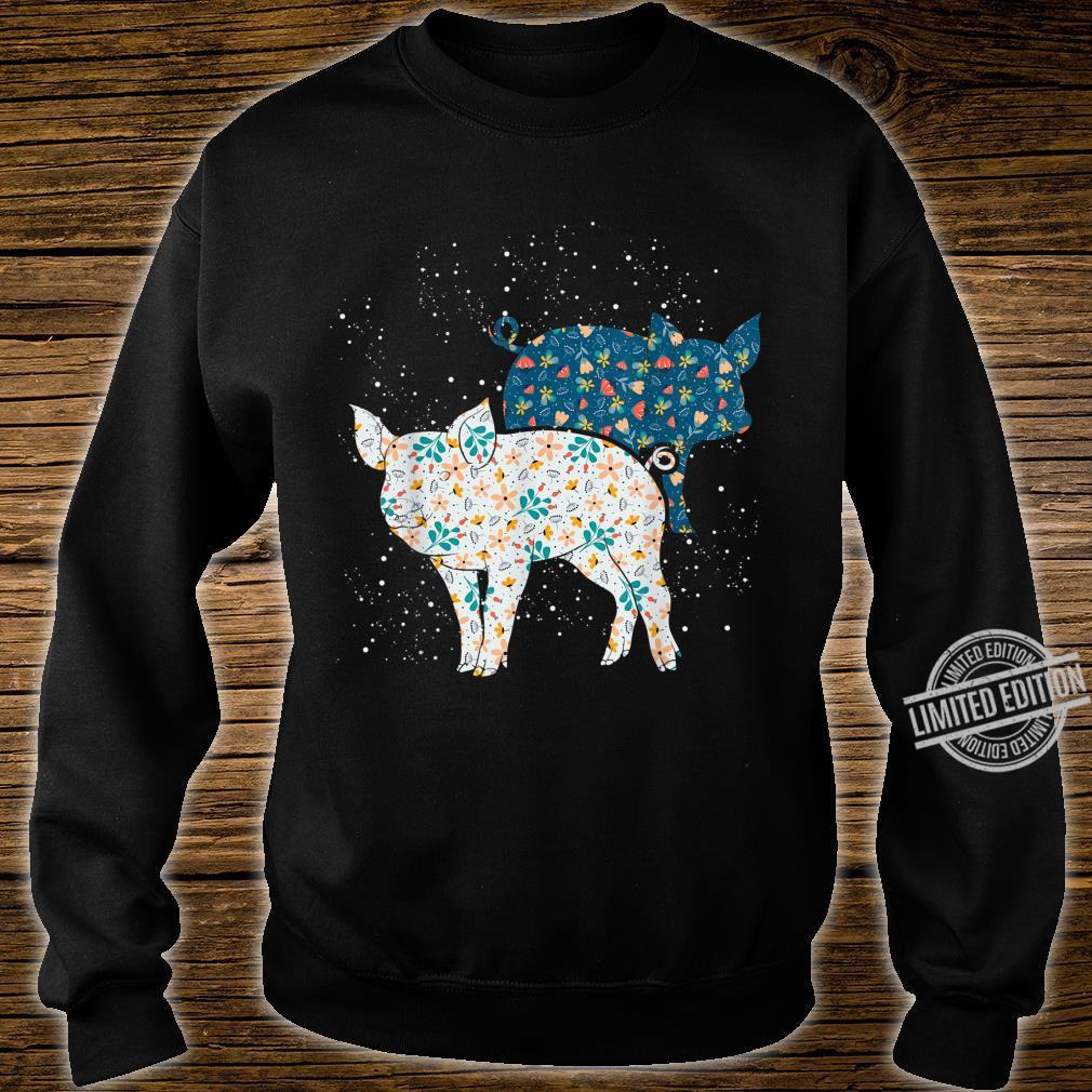 Geschenk Bäuerin Bauernhof Tiermotiv Vintage Schwein Shirt sweater