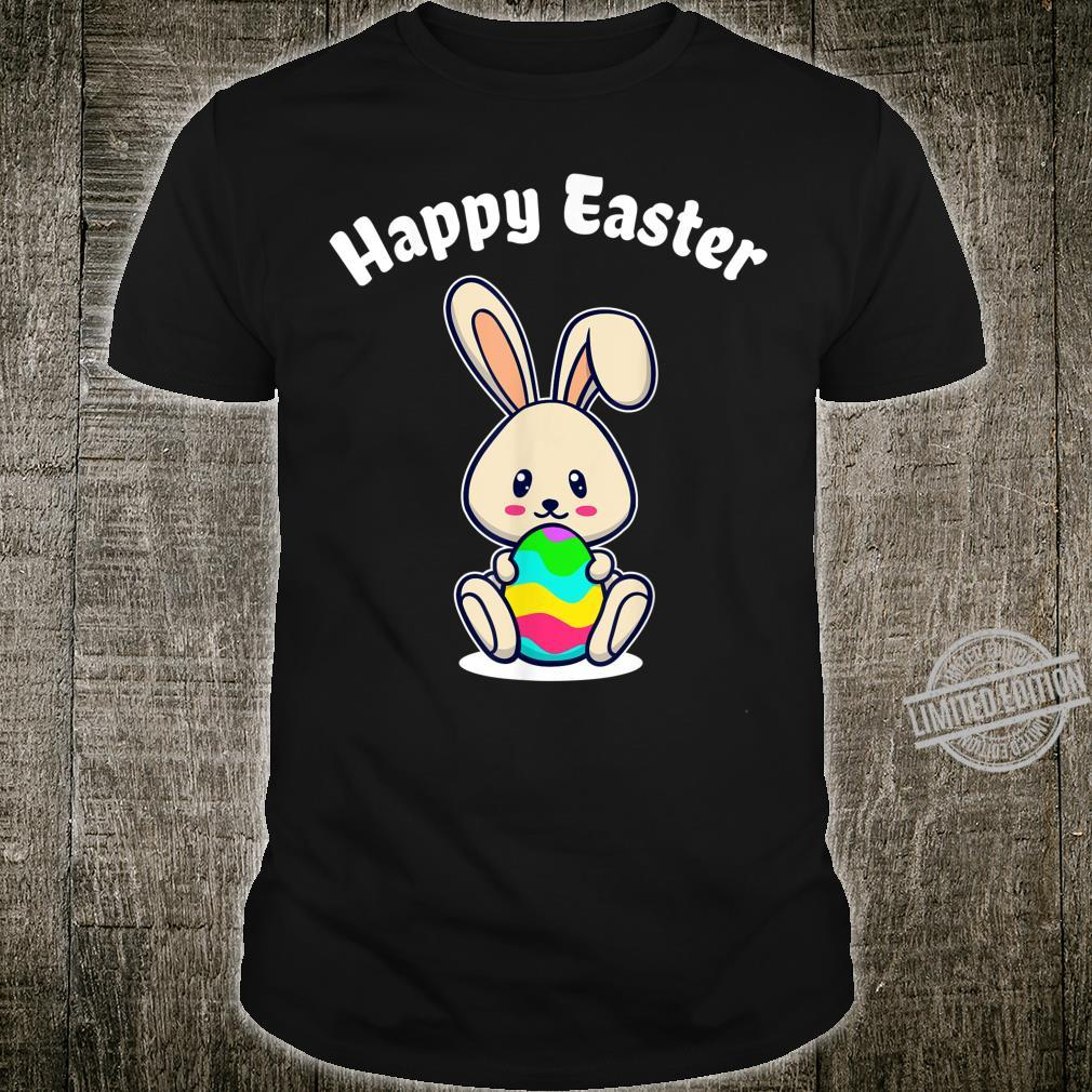Happy Easter Rabbit Cute Bunny Colorful Easter Eggs Shirt
