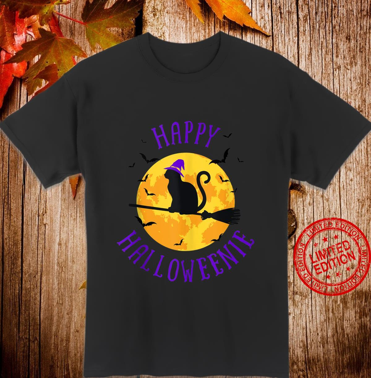 Happy Halloweenie Cat Witch Scary Halloween Shirt
