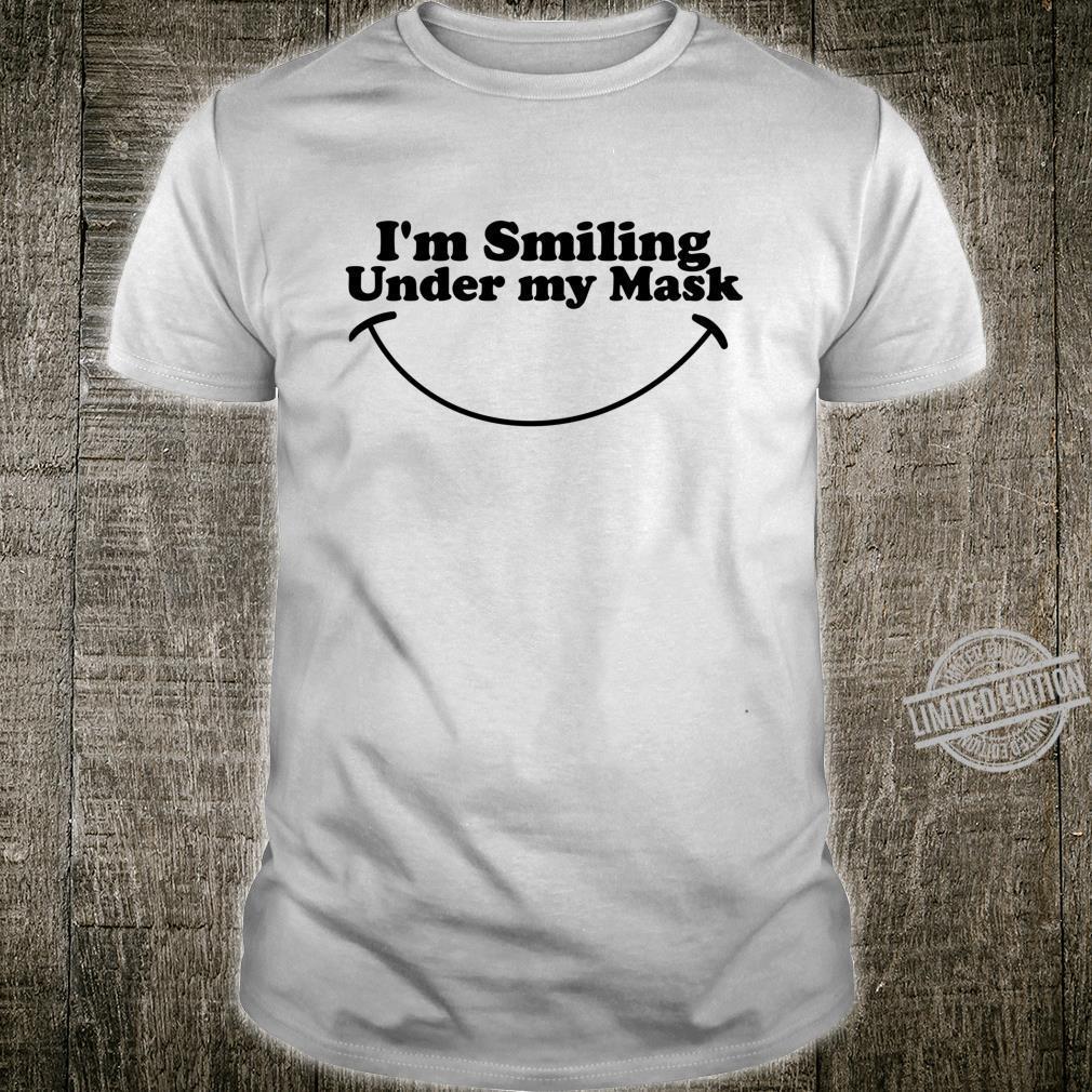 Ich lächle unter meiner Maske Lächeln Langarmshirt Shirt