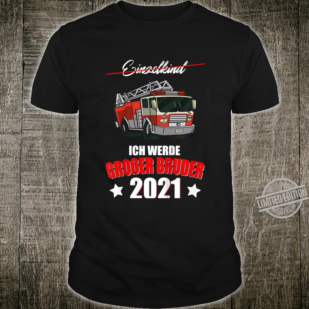 Kinder Feuerwehrauto Jungen Geschenk Großer Bruder 2021 Feuerwehr Shirt