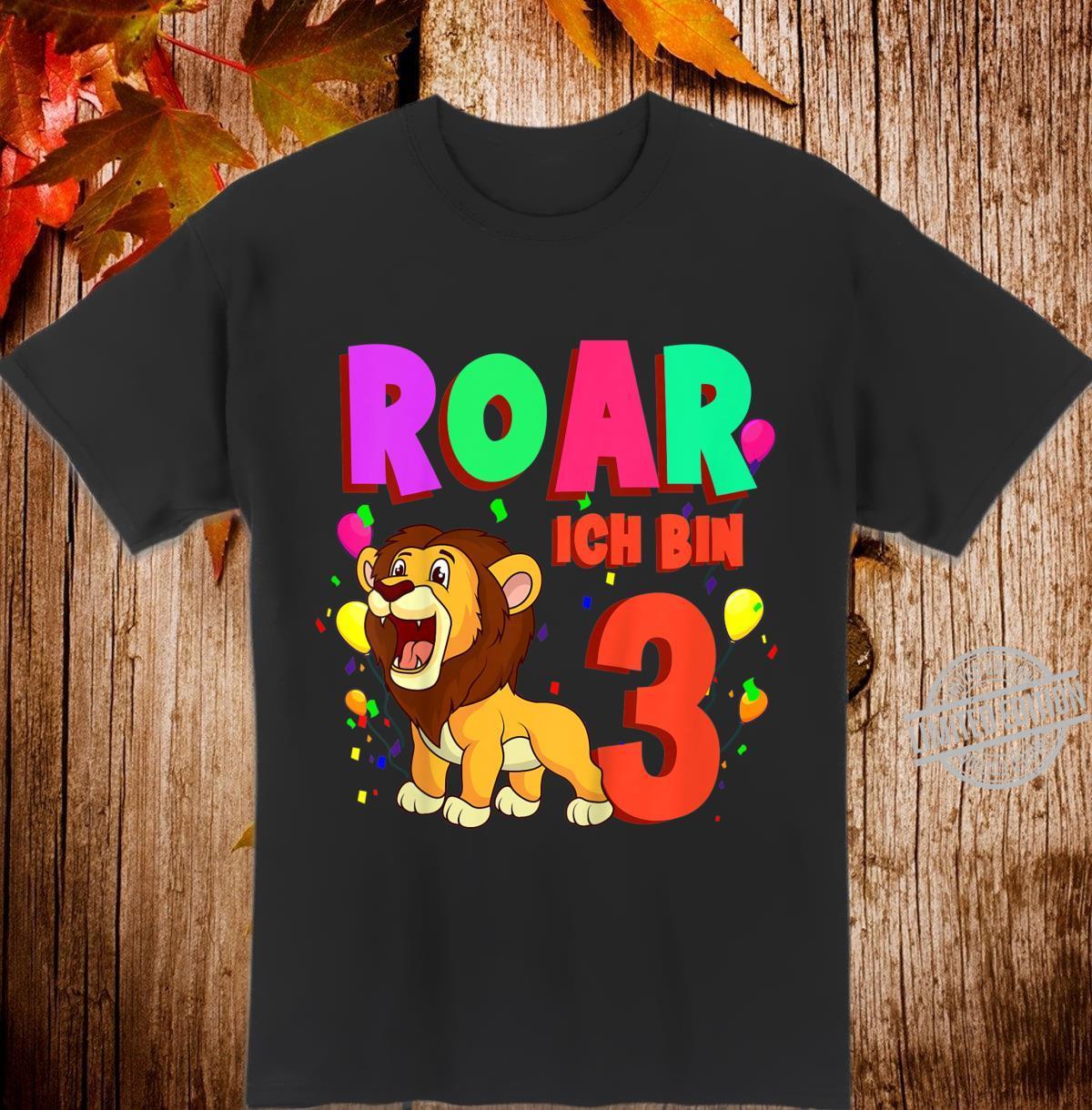 Kinder Ich Bin 3 Löwe Jungen Geburtstag Drei Jahre Geschenk Shirt