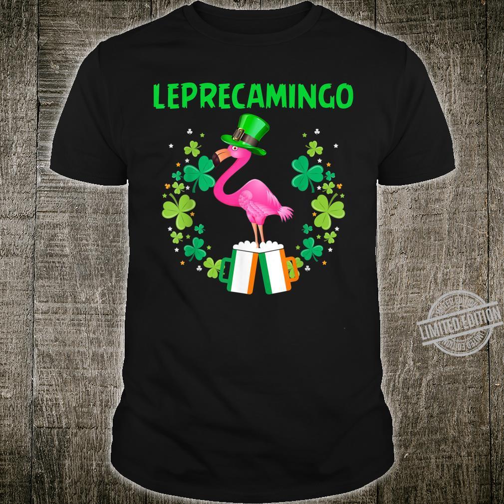 Leprecamingo St Patrick's Day Irish Flamingo Shirt