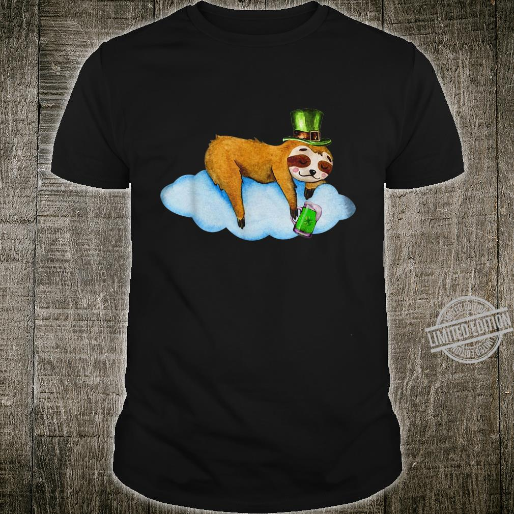 Leprechaun Sloth Irish Napping Happy Patrick's Day Shirt