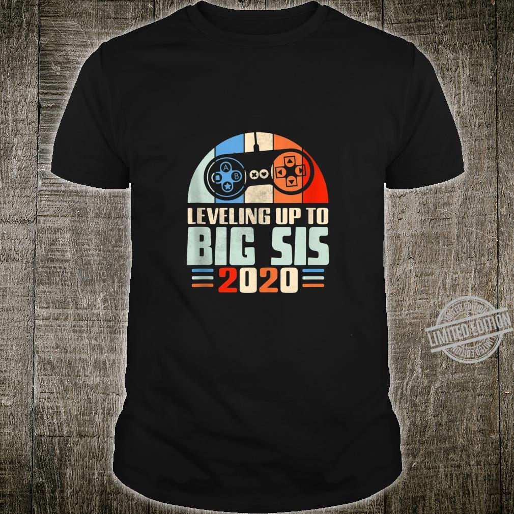 Leveling Up To Big Sis 2020 New Gamer Big Sis Gaming Shirt