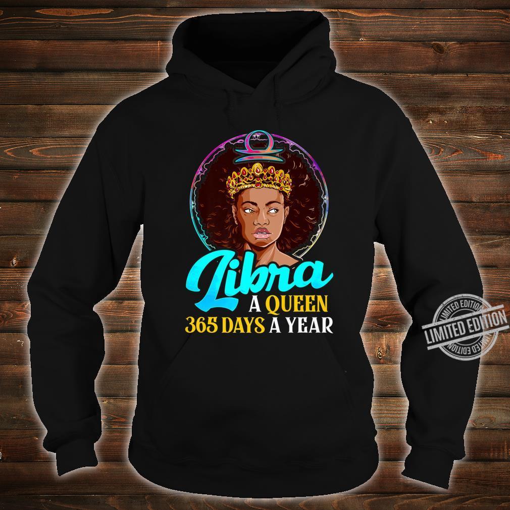 Libra Zodiac Shirt Black Girl Birthday Afro Melanin Queen Shirt hoodie