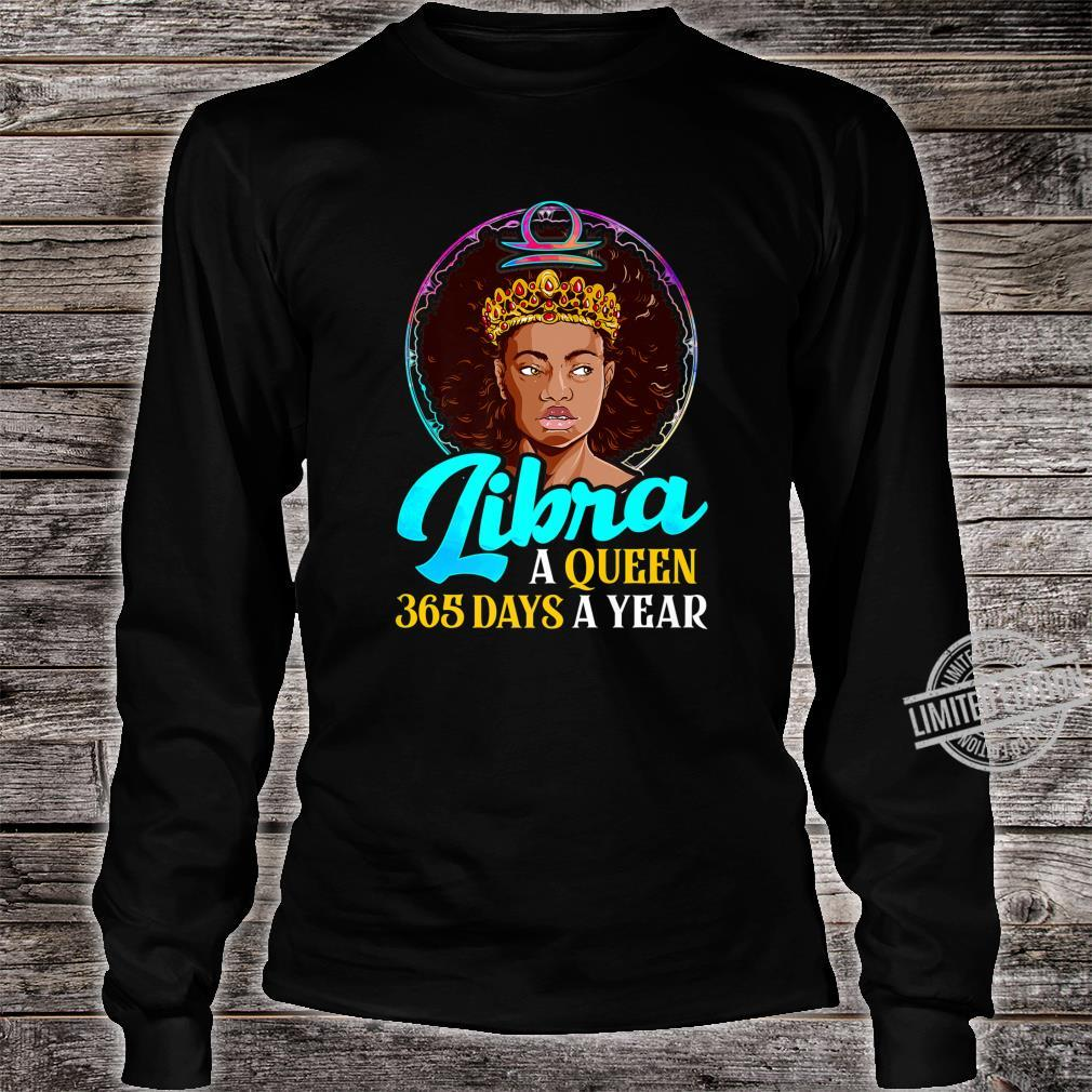 Libra Zodiac Shirt Black Girl Birthday Afro Melanin Queen Shirt long sleeved