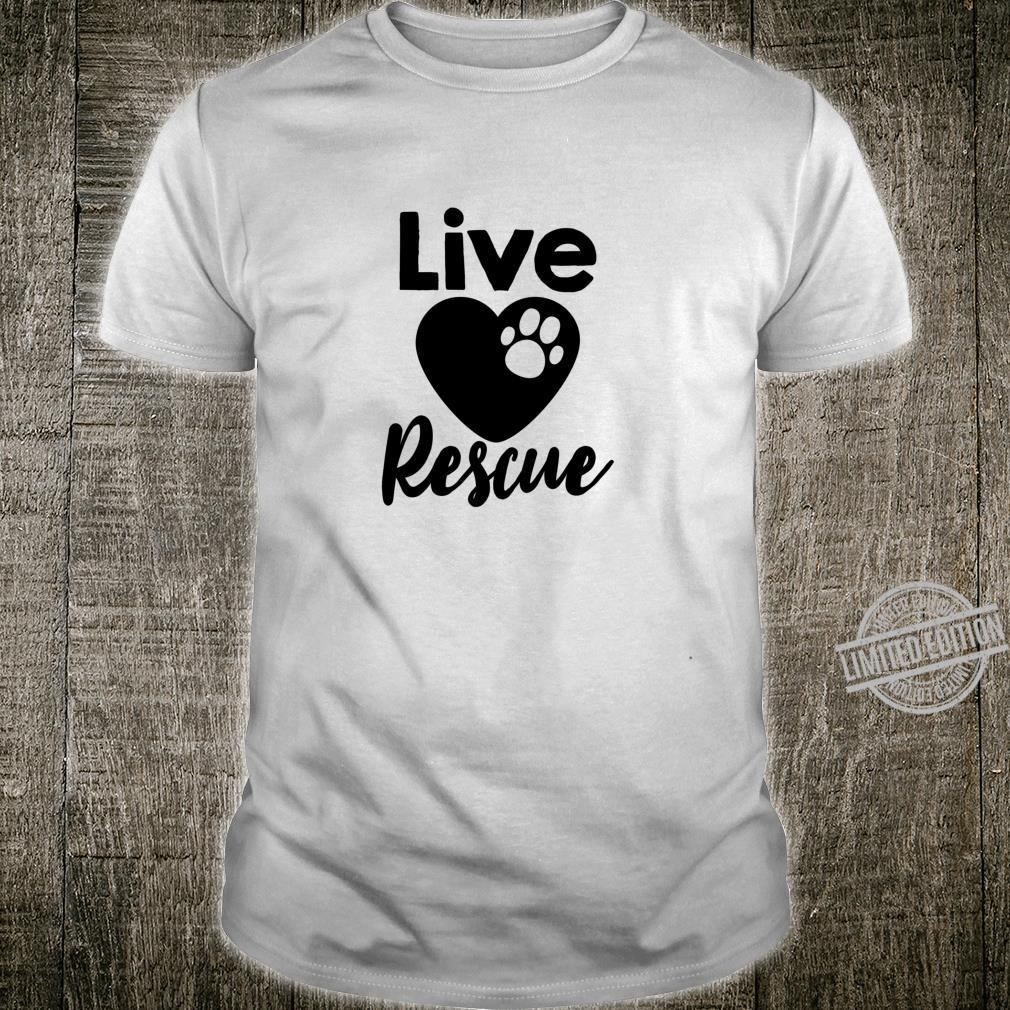 Live Love Rescue Cat Kitten Shirt
