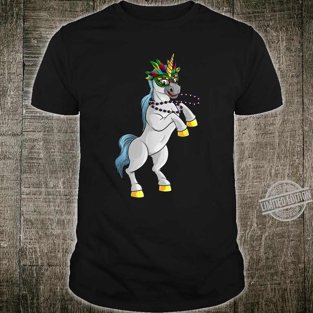 Mardi Gras Unicorn Shrove Tuesday Horse Shirt