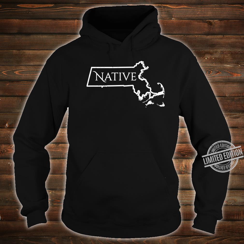 Massachusets Native Distressed Shirt hoodie