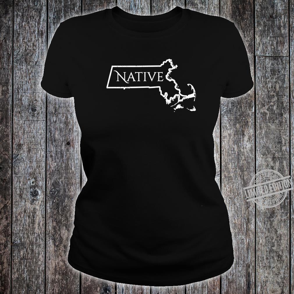Massachusets Native Distressed Shirt ladies tee