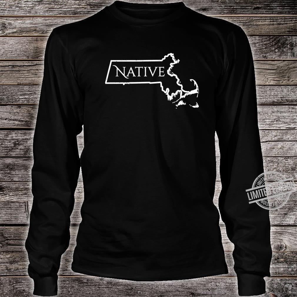 Massachusets Native Distressed Shirt long sleeved