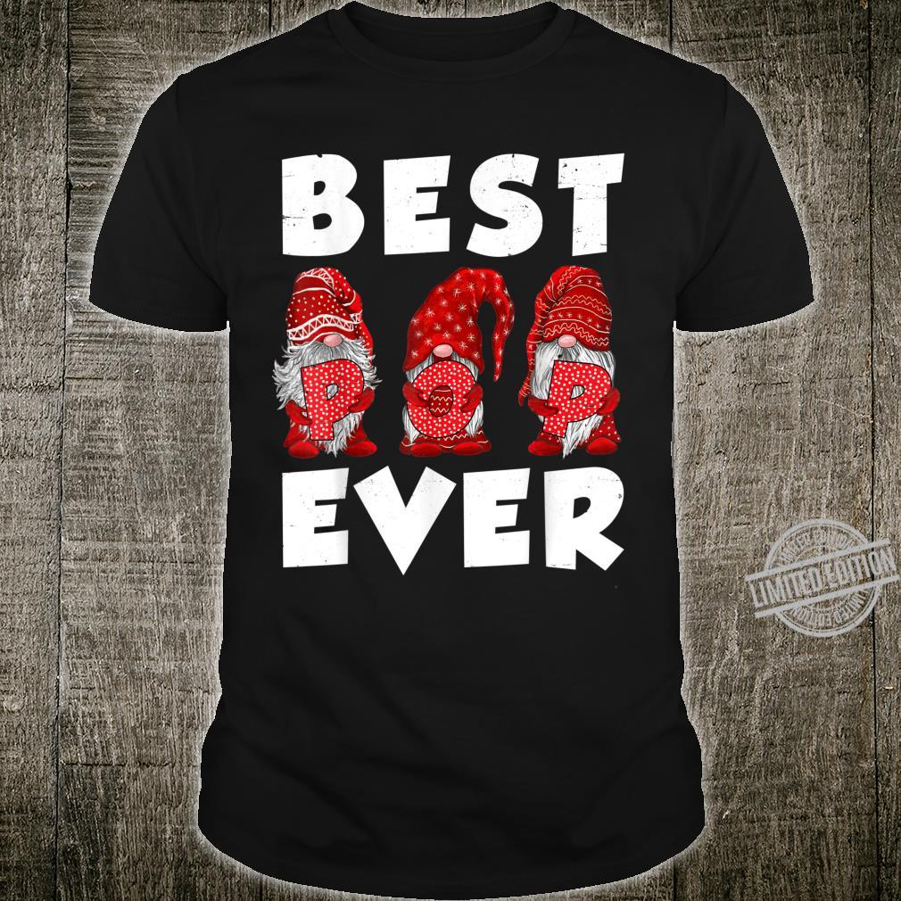 Matching Family Gnome Best Pop Ever Mothers Day For Mom Shirt