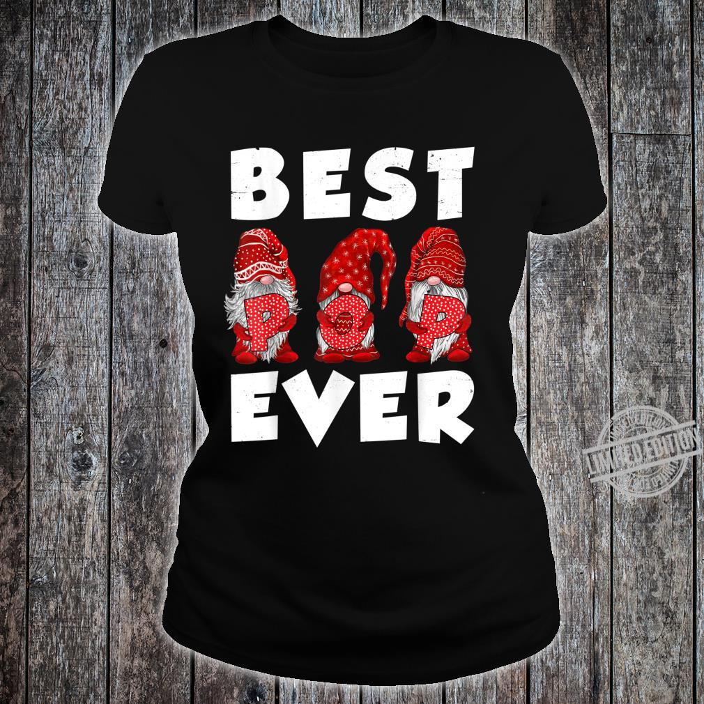Matching Family Gnome Best Pop Ever Mothers Day For Mom Shirt ladies tee