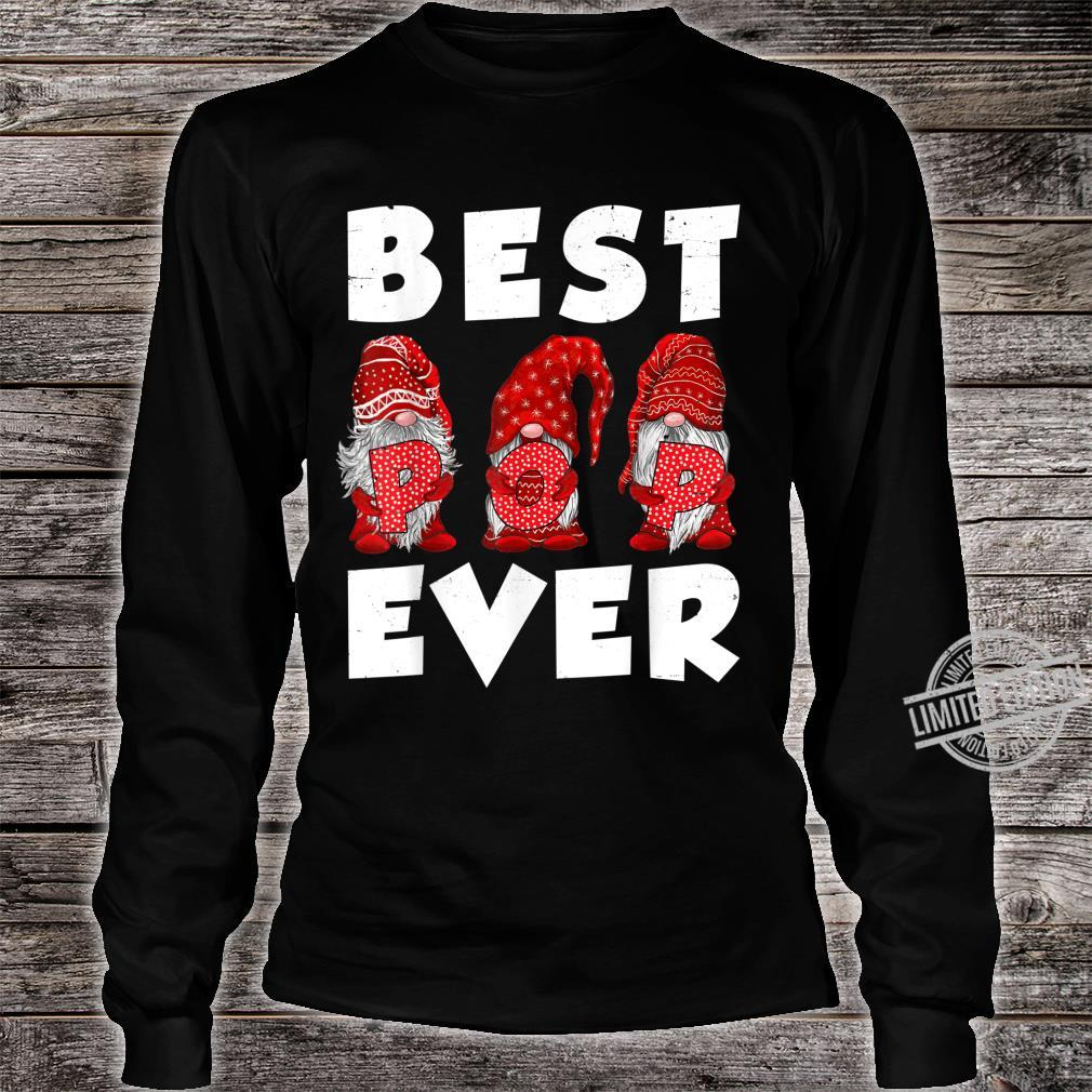 Matching Family Gnome Best Pop Ever Mothers Day For Mom Shirt long sleeved