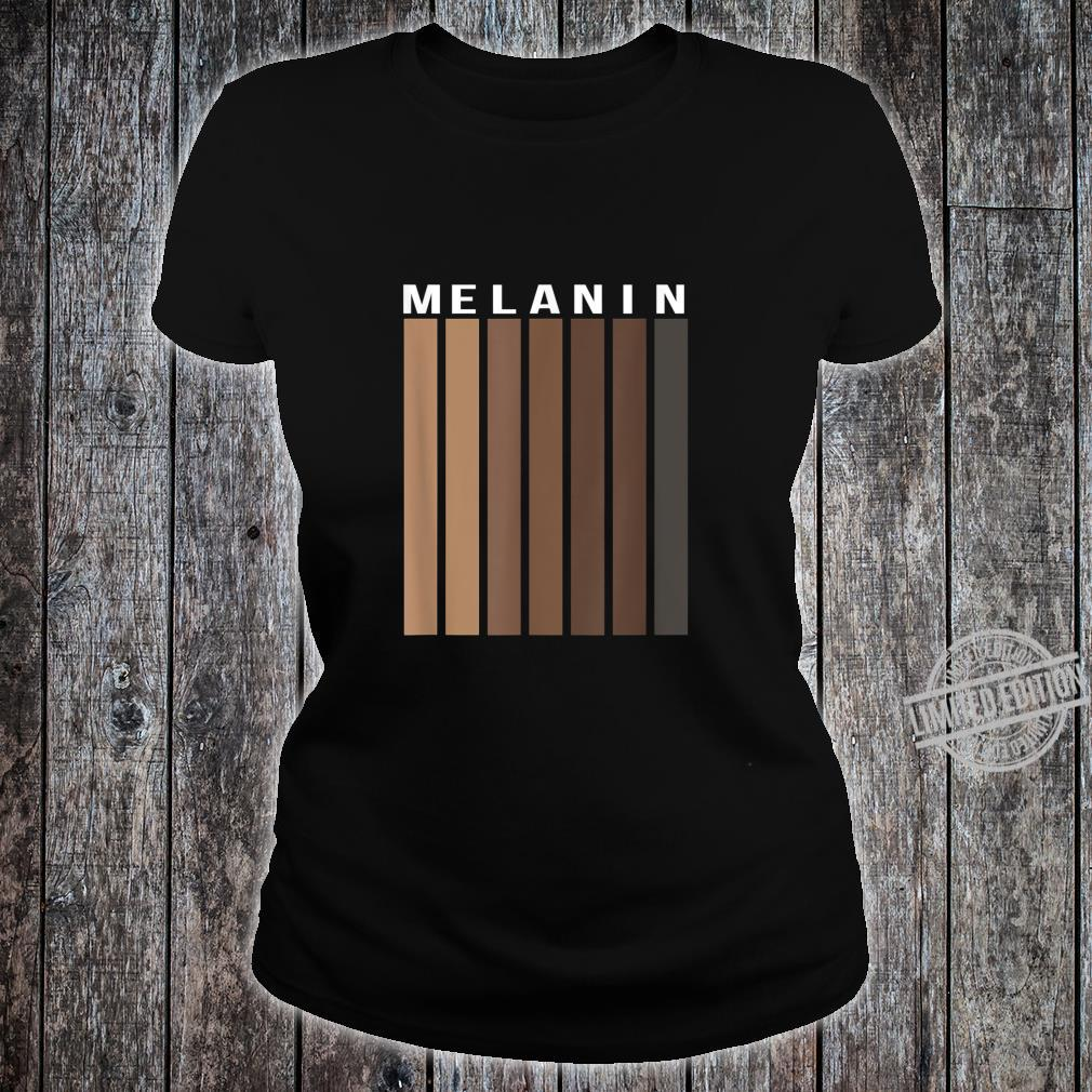 Melanin Poppin Black History Month African American Pride Shirt ladies tee