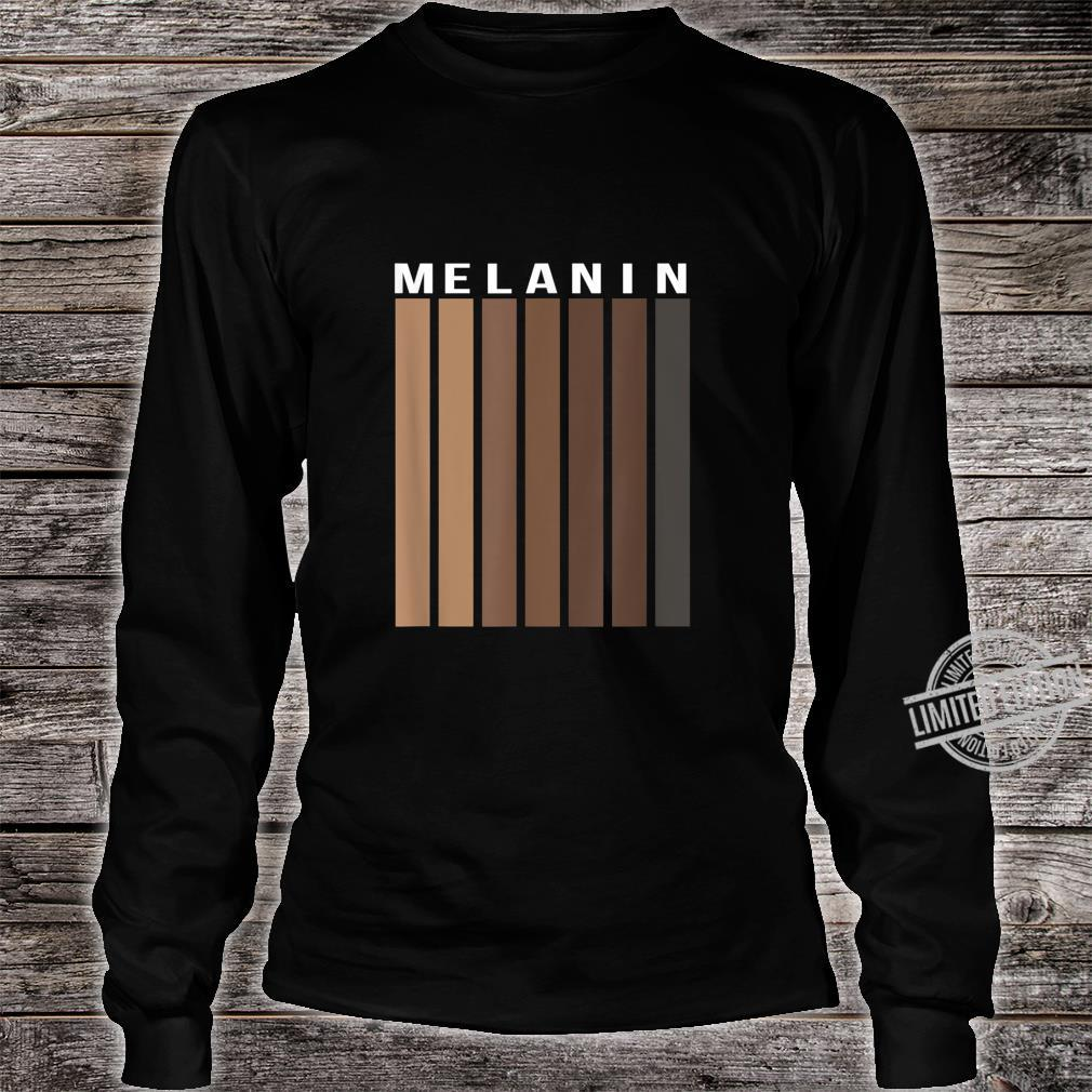 Melanin Poppin Black History Month African American Pride Shirt long sleeved