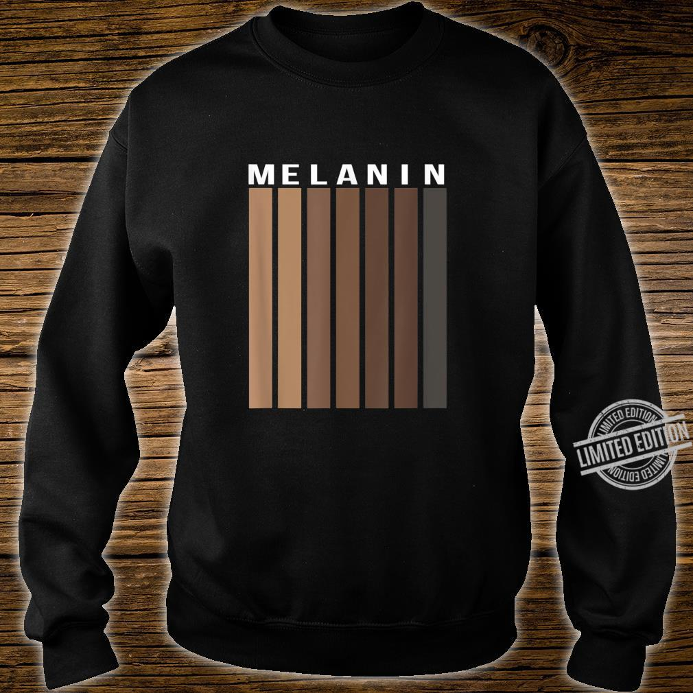 Melanin Poppin Black History Month African American Pride Shirt sweater