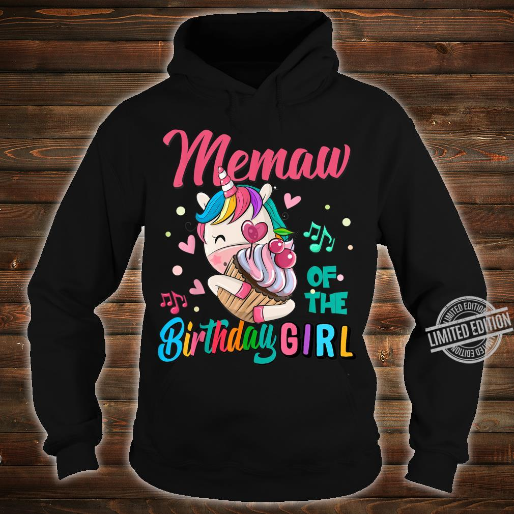 Memaw Of The Birthday Girl Unicorn Matching Family Shirt hoodie