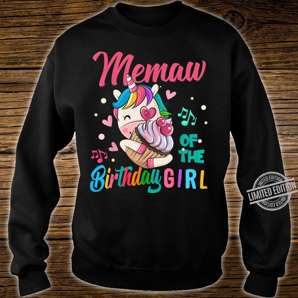 Memaw Of The Birthday Girl Unicorn Matching Family Shirt sweater