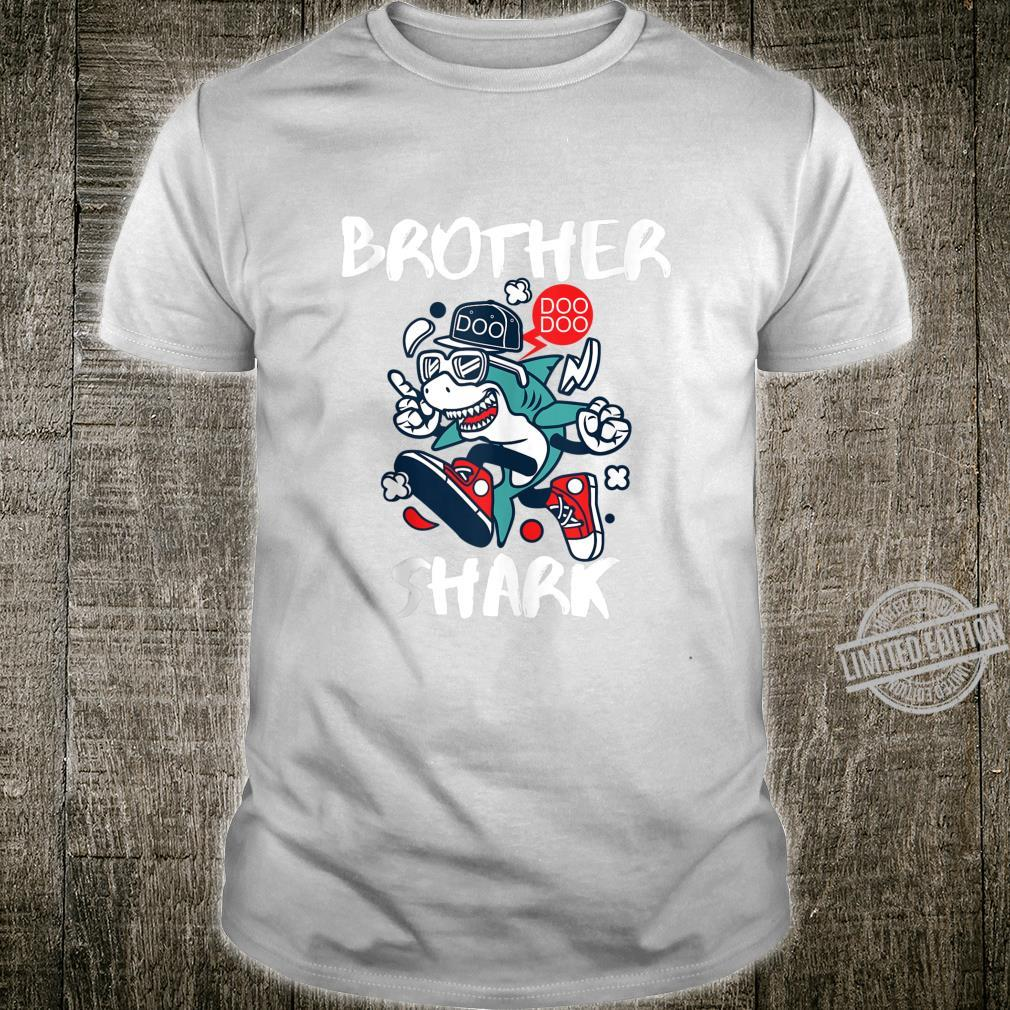 Mens Brother Shark Doo Doo Shirt Bro Fun Uncle Birthday Idea Shirt