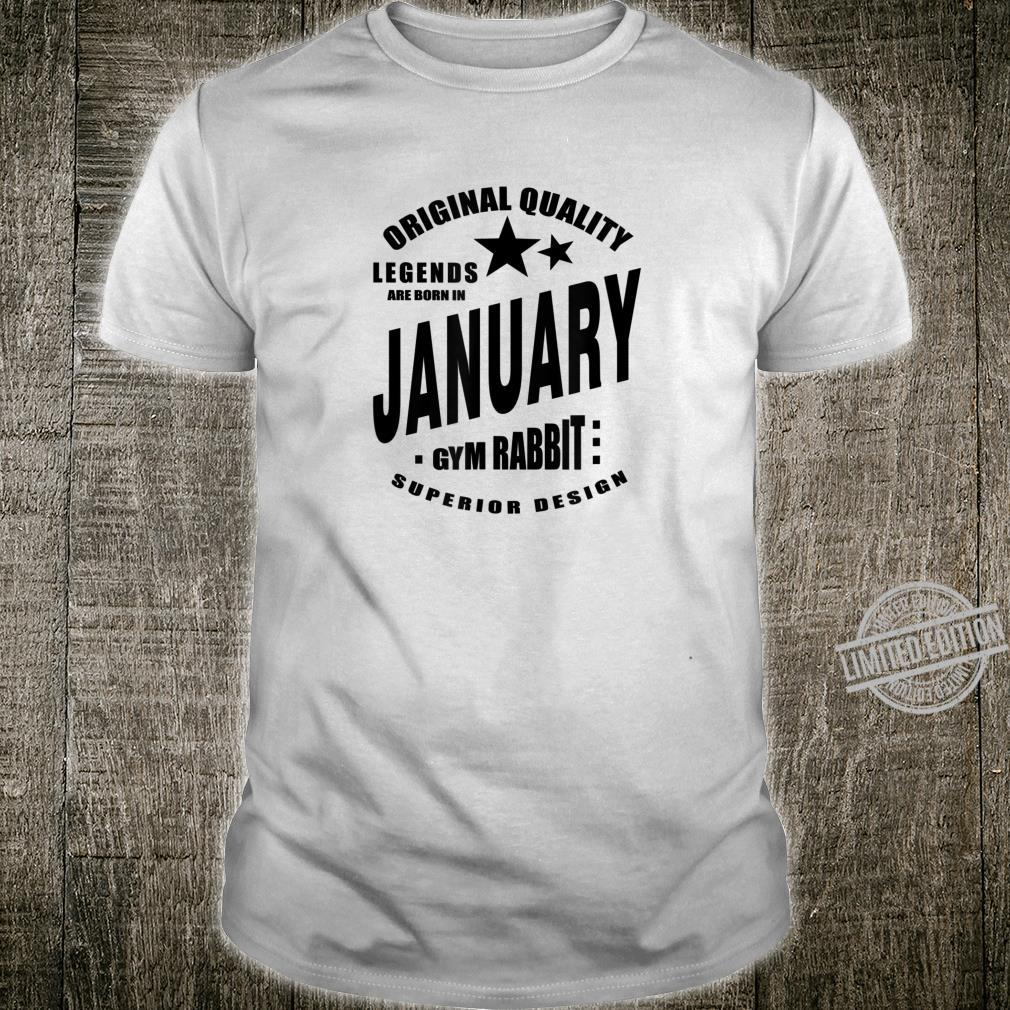 Mens LEGENDS ARE BORN IN JANUARY Gym Fitness Workout E467 Shirt