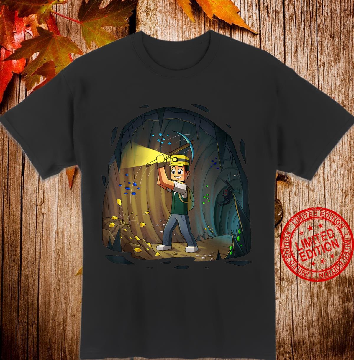 Minenarbeiter Erze & Höhlen Block & Cube Miner Geschenk Shirt