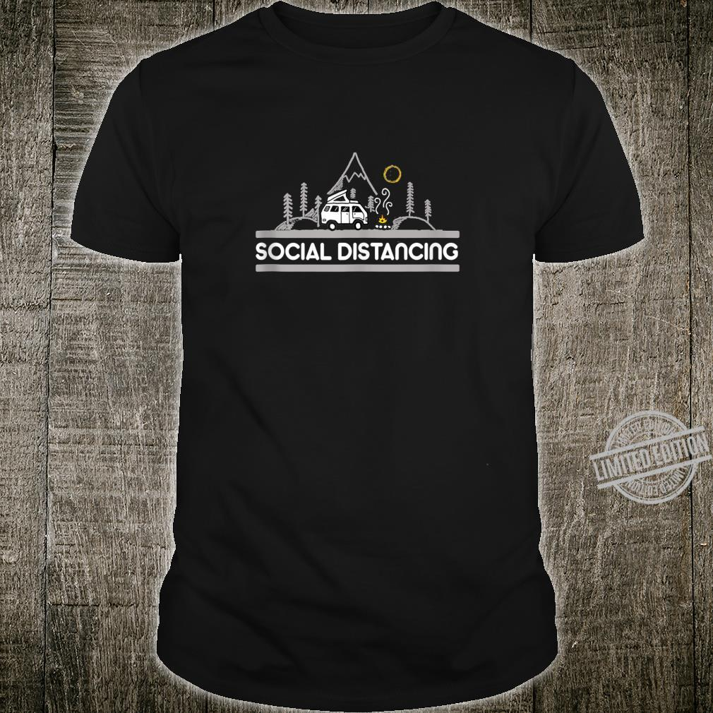 Mountain Life Social Distance Before Was Cool Camping Hike Shirt