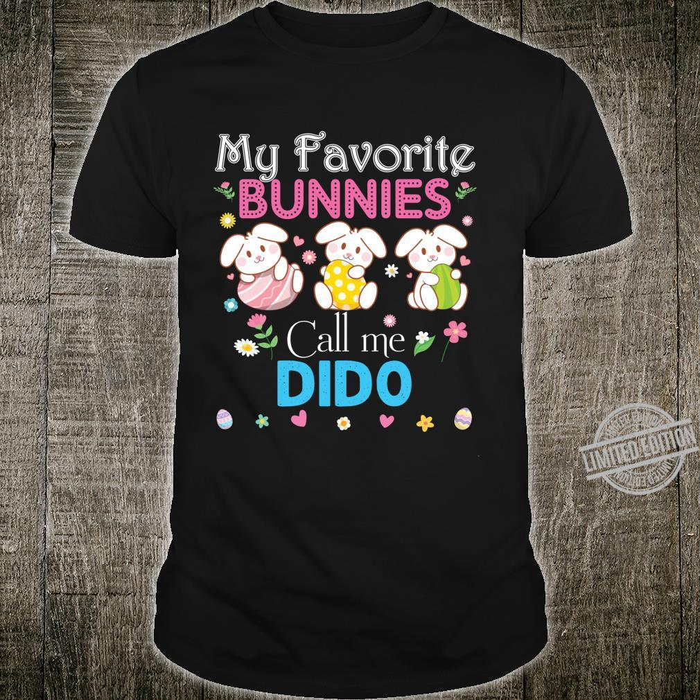 My Favorite Bunnies Call Me Dido Bunny Family Egg Hunt Love Shirt