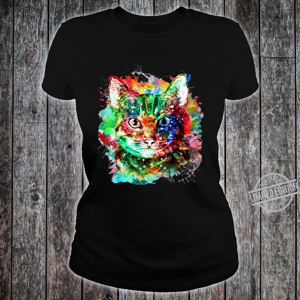 My cute Cat watercolor for cats Shirt ladies tee