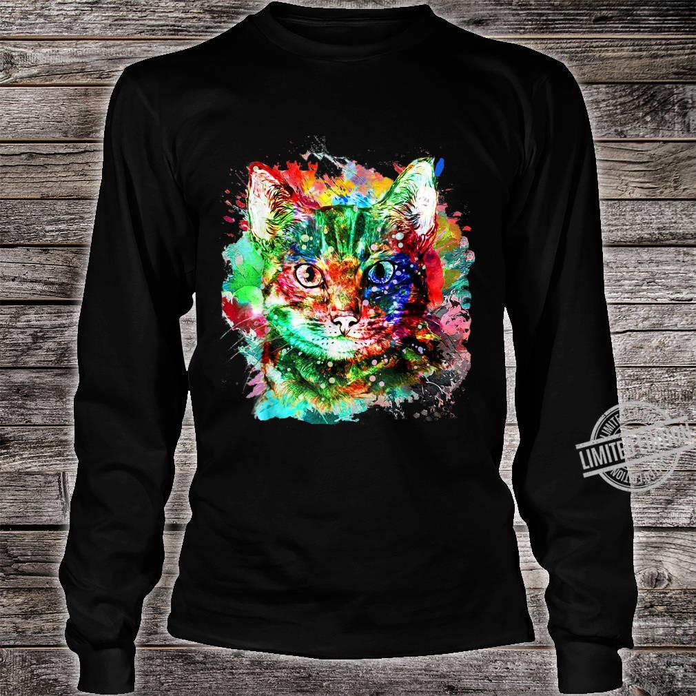 My cute Cat watercolor for cats Shirt long sleeved