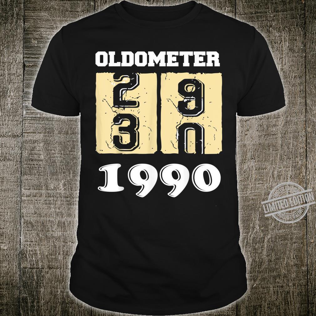 Oldometer 29 30 Born In 1990 Birthday Dad Mom Shirt