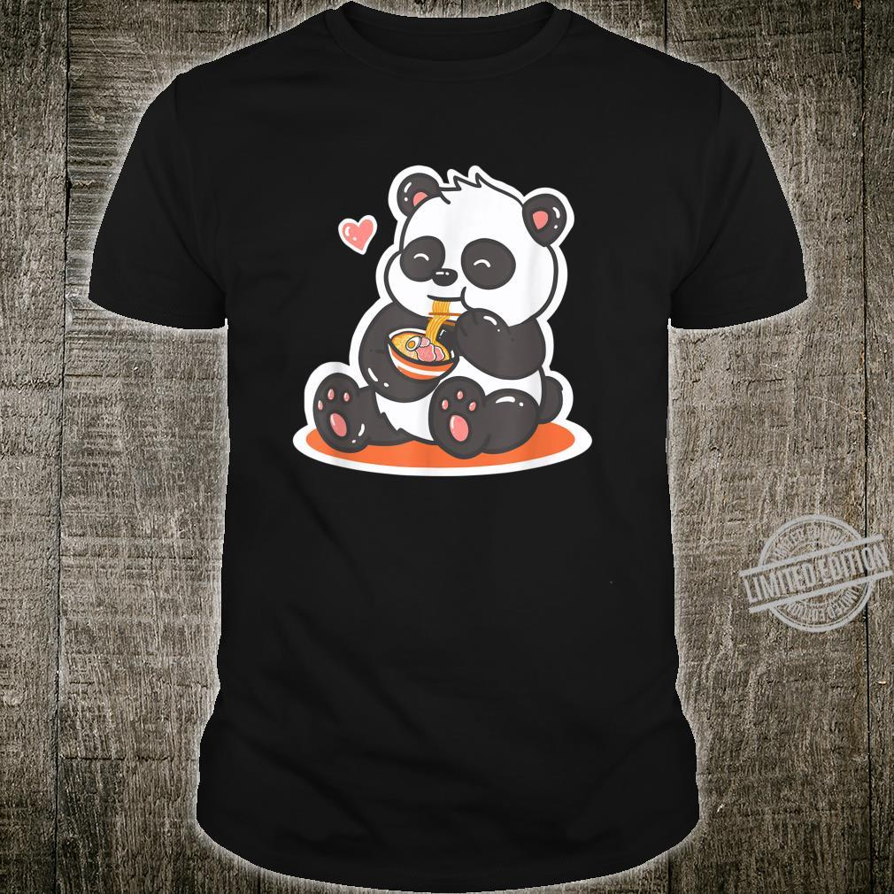 Panda isst Ramen Nudeln Japan Kawaii Anime Shirt