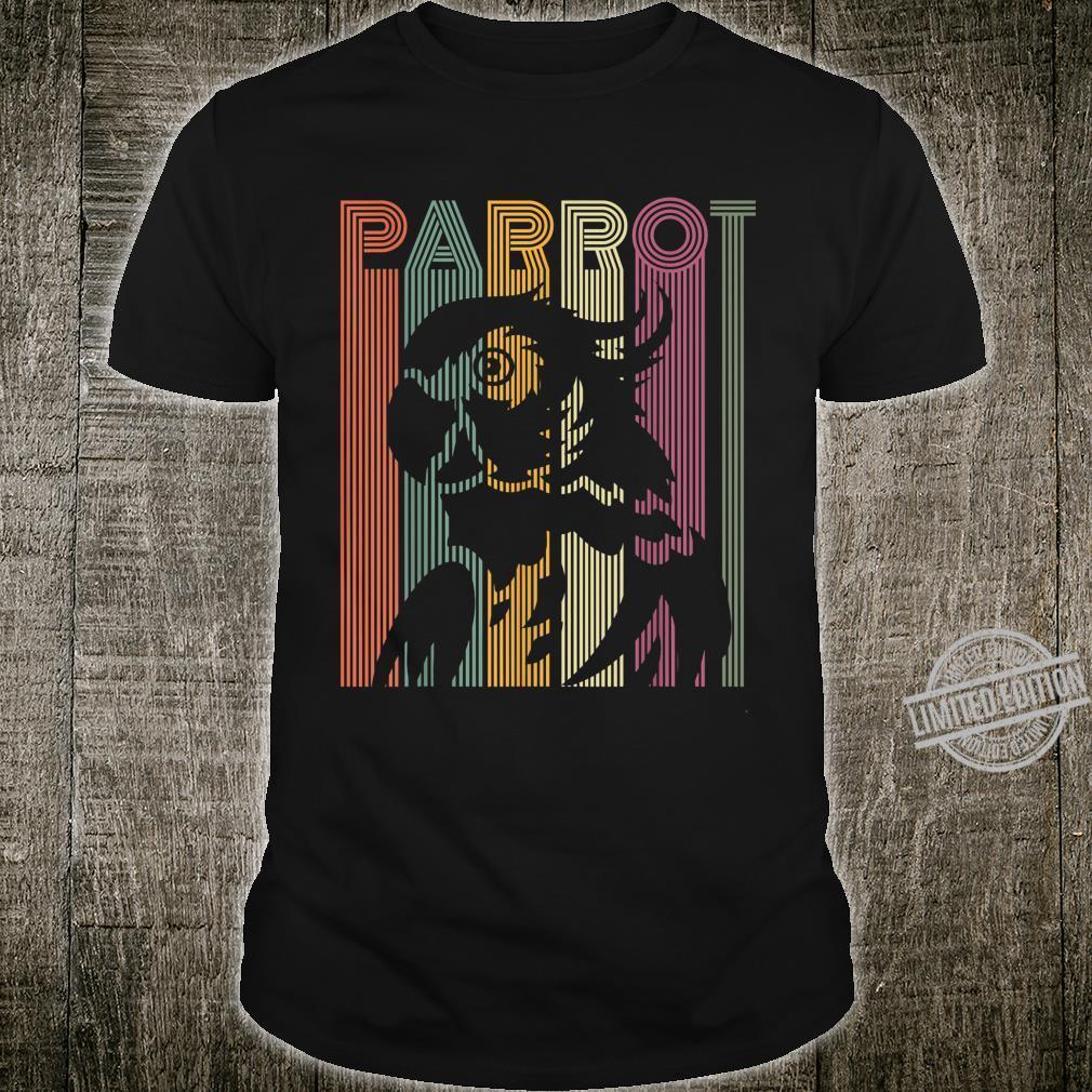 Papagei Vintage Retro Frauen Männer Kinder Papagei Shirt