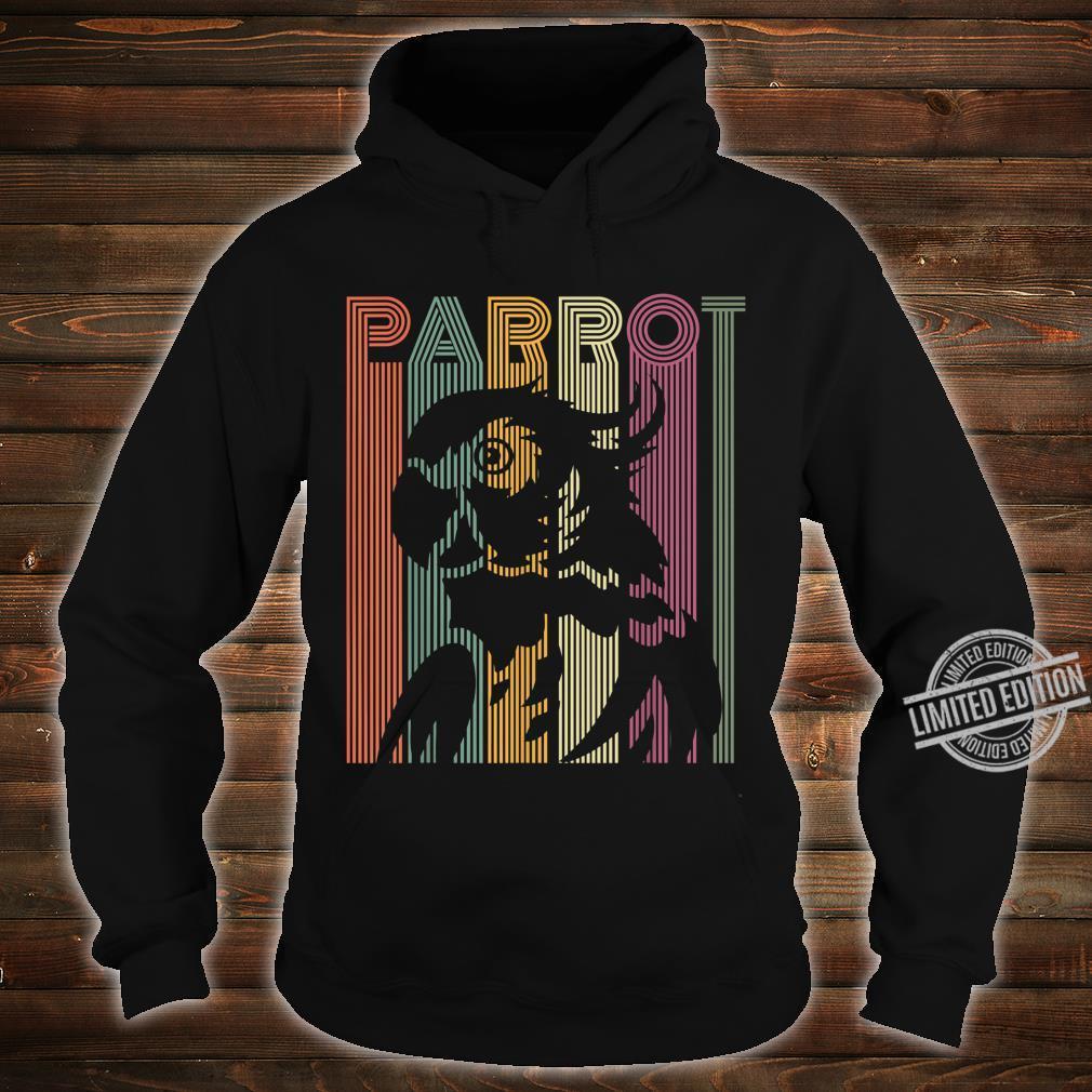 Papagei Vintage Retro Frauen Männer Kinder Papagei Shirt hoodie