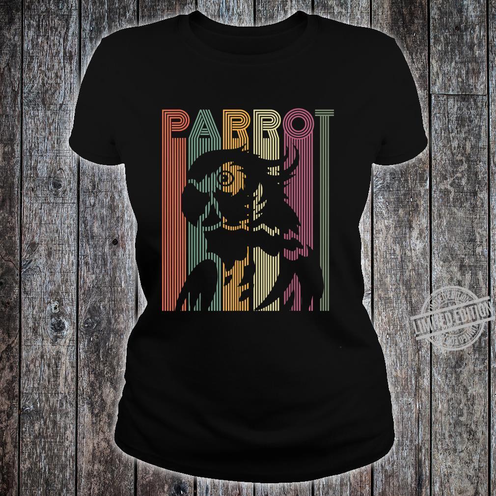 Papagei Vintage Retro Frauen Männer Kinder Papagei Shirt ladies tee