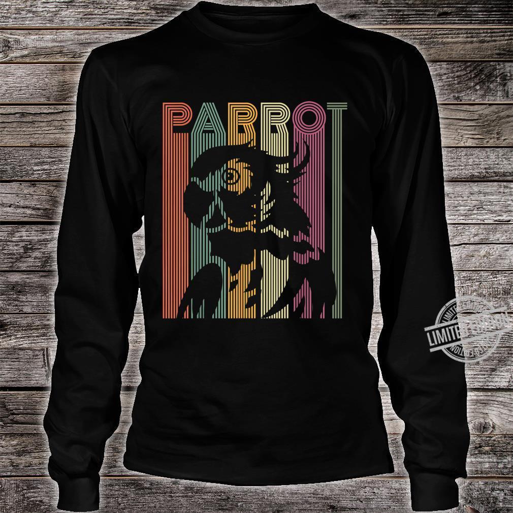 Papagei Vintage Retro Frauen Männer Kinder Papagei Shirt long sleeved