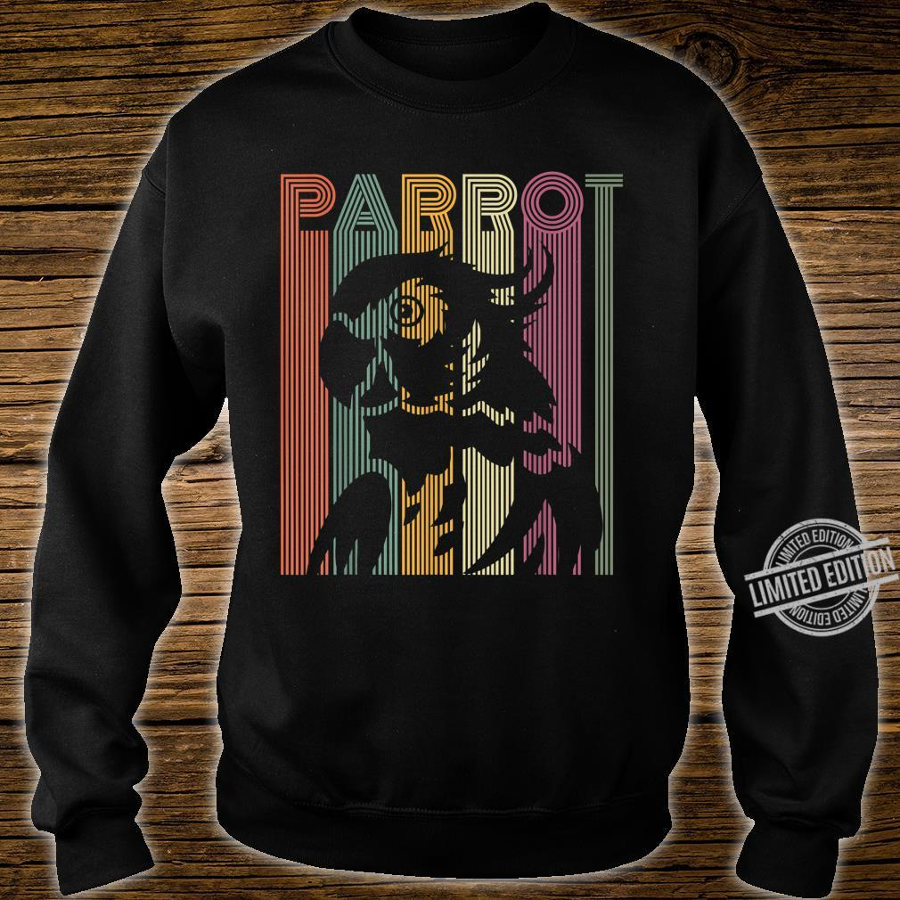 Papagei Vintage Retro Frauen Männer Kinder Papagei Shirt sweater