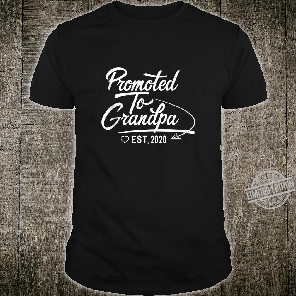 Promoted to Grandpa Est 2020 Fathers Day New Grandpa Shirt