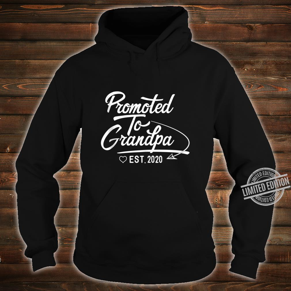 Promoted to Grandpa Est 2020 Fathers Day New Grandpa Shirt hoodie