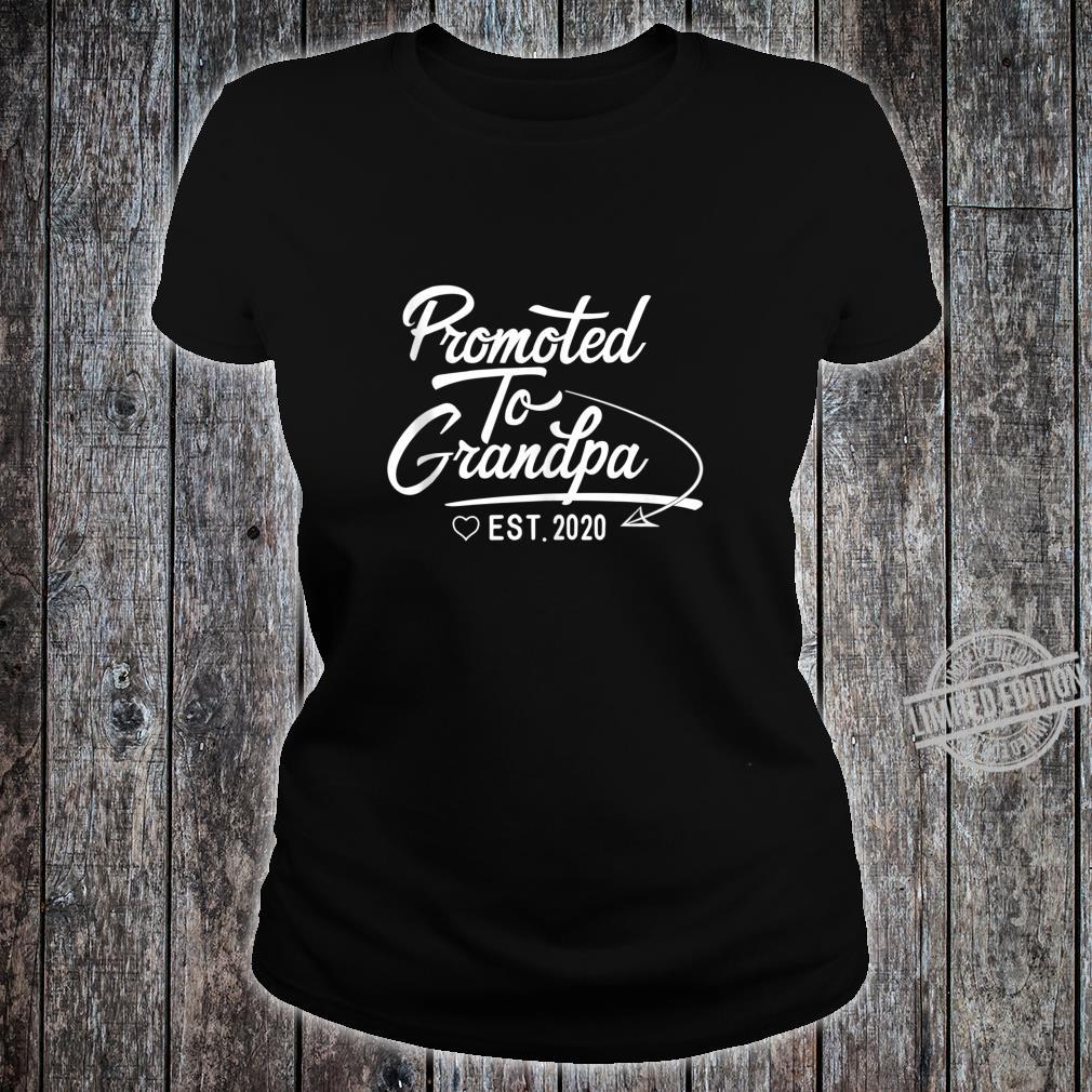 Promoted to Grandpa Est 2020 Fathers Day New Grandpa Shirt ladies tee