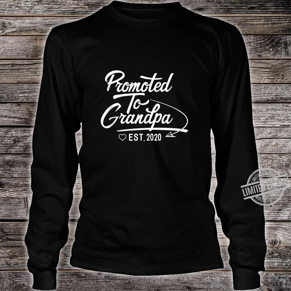 Promoted to Grandpa Est 2020 Fathers Day New Grandpa Shirt long sleeved