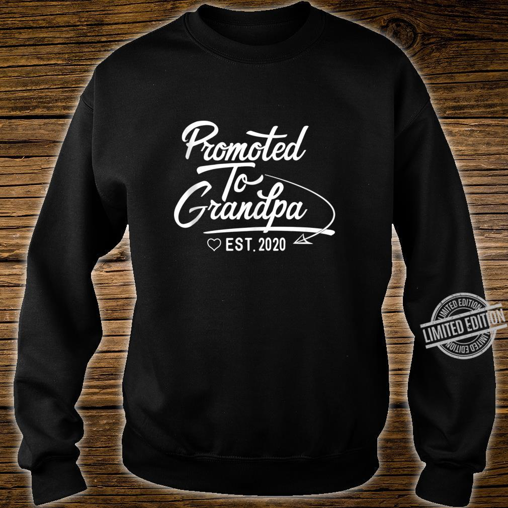 Promoted to Grandpa Est 2020 Fathers Day New Grandpa Shirt sweater